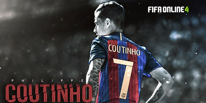 Review Philippe Coutinho Mùa TB Trong FiFa Online 4