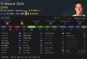 chi so Mesut Ozil tt fo4