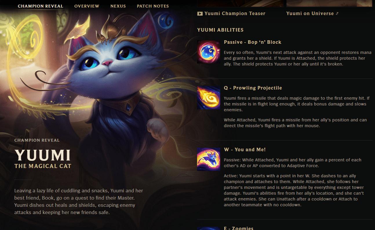 Liên Minh Huyền Thoại: Yuumi – Cô Mèo Ma Thuật