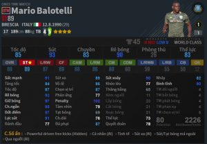 chi so balotelli OTW trong fo4