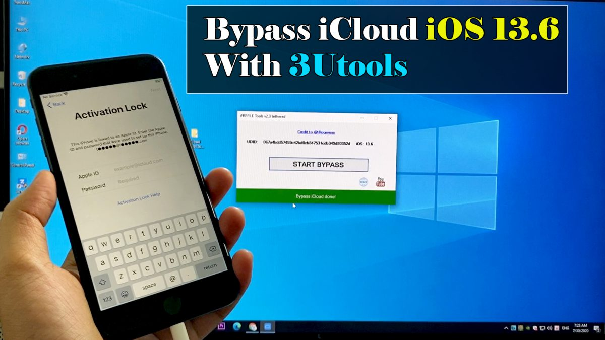 Bypass iCloud iPhone iOS 13.6  Fix all With 3U Tools