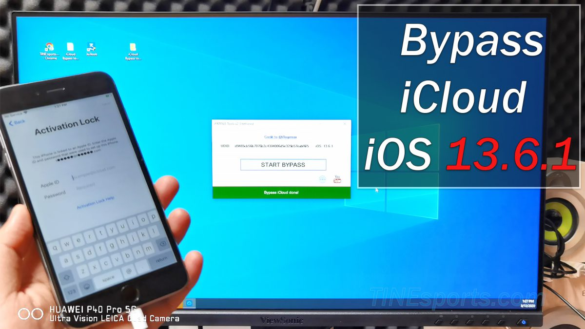 Bypass iCloud iOS 13.6.1 Any iPhone 5s – iPhone X  with 3utools