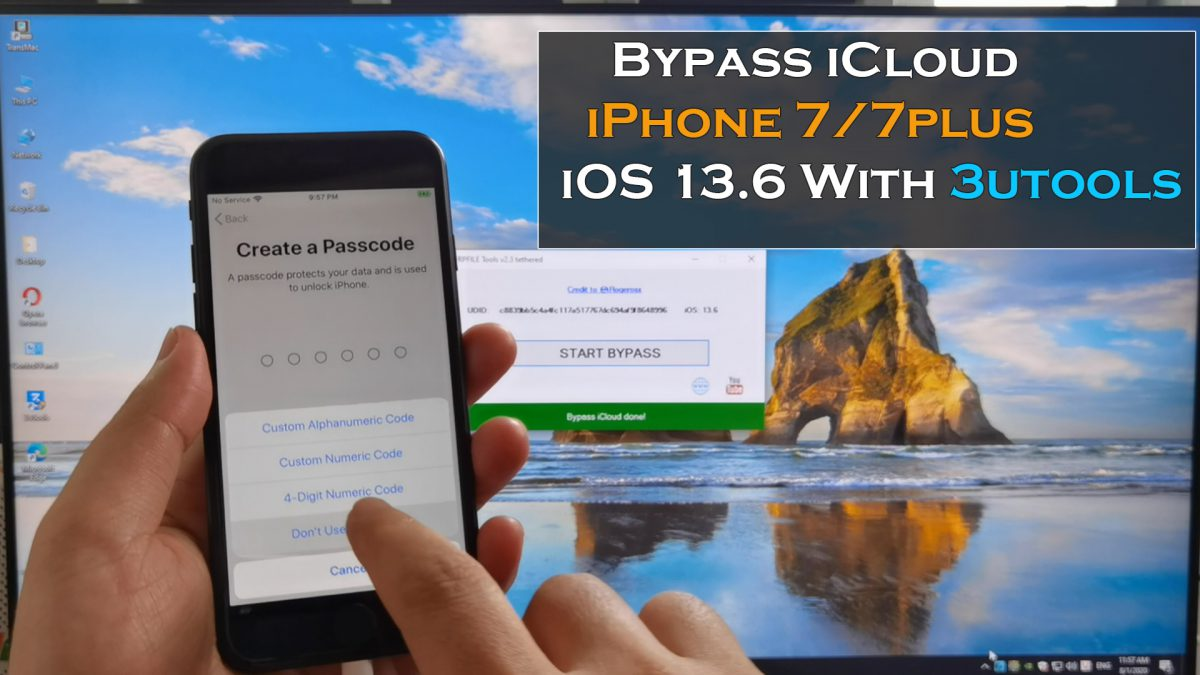 Bypass iCloud iPhone 7/ 7plus iOS 13.6 With 3Utools 3/8/2020